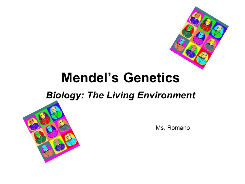 Genetics and the environment?
