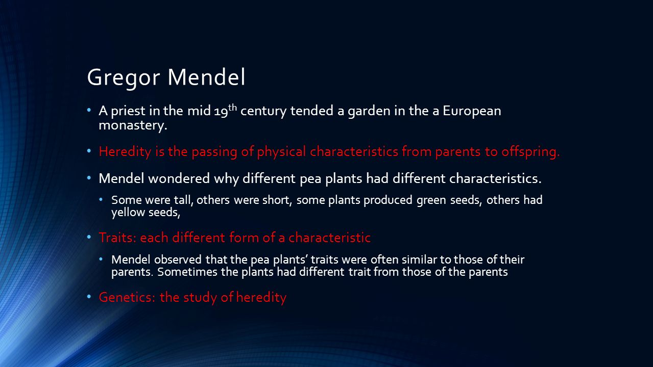 an introduction to the life of gregor mendel