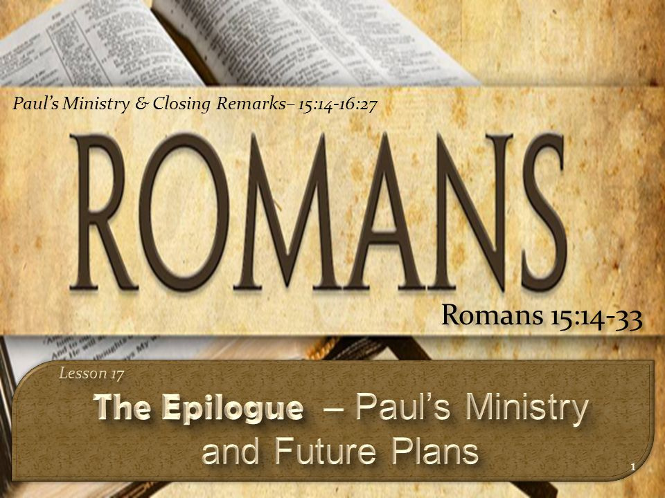 Image result for romans 15 14-33