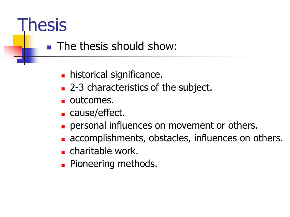thesis significance