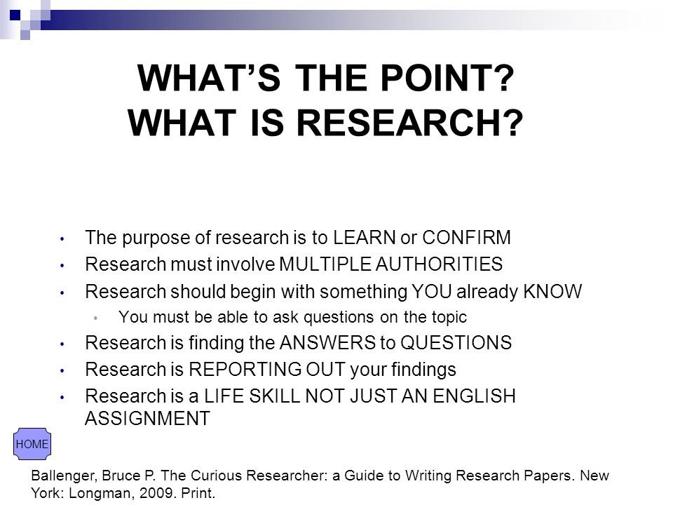 What is the point in writing research papers?