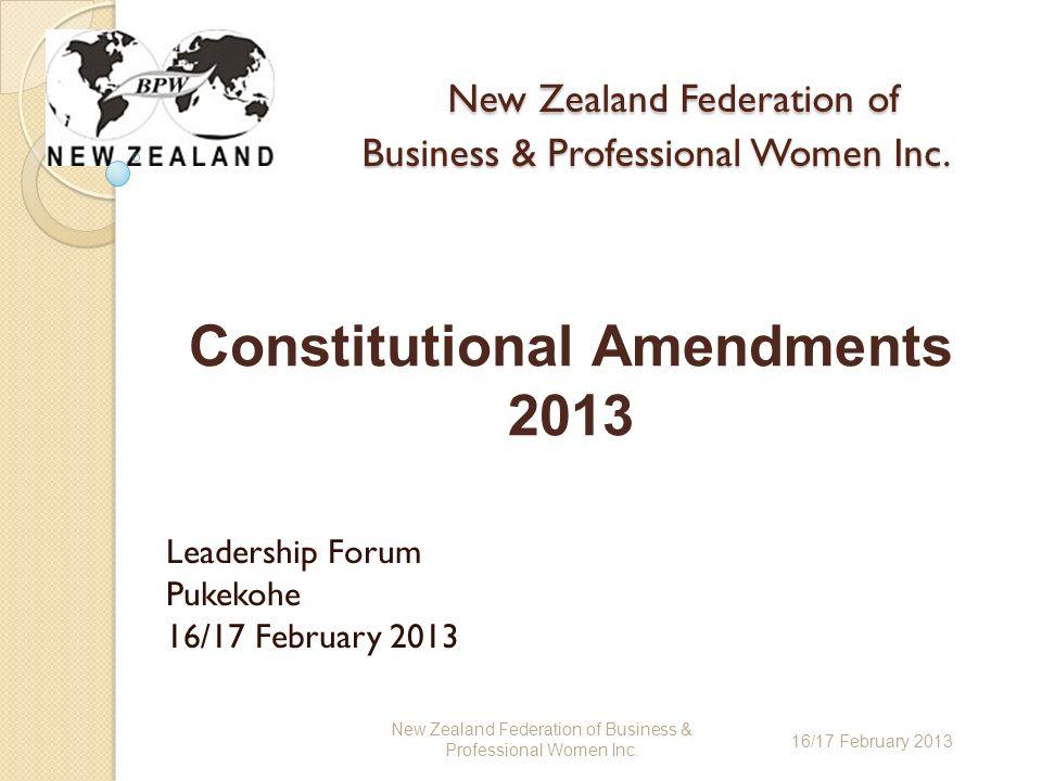 New Zealand Federation of Business & Professional Women Inc.