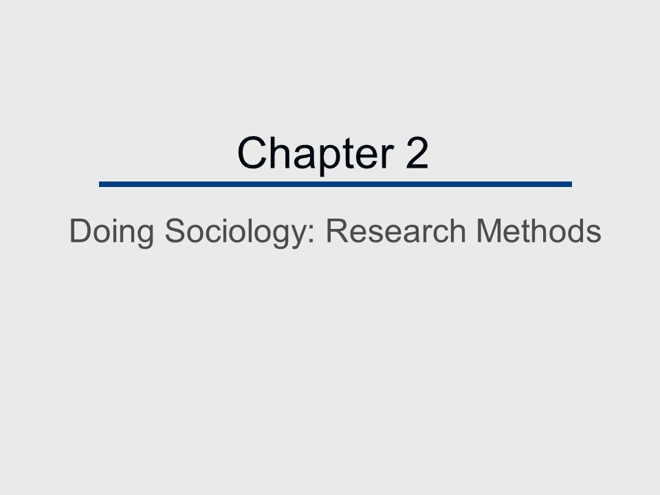 Sociology research methods