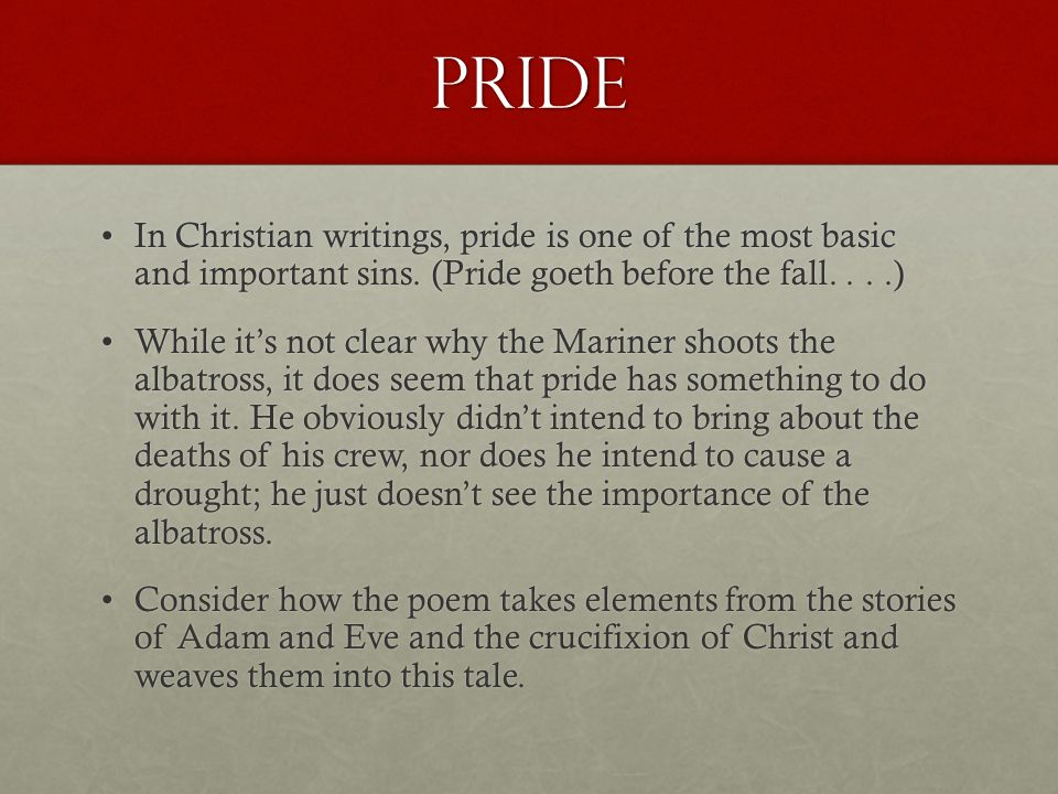 Essay on pride hath a fall