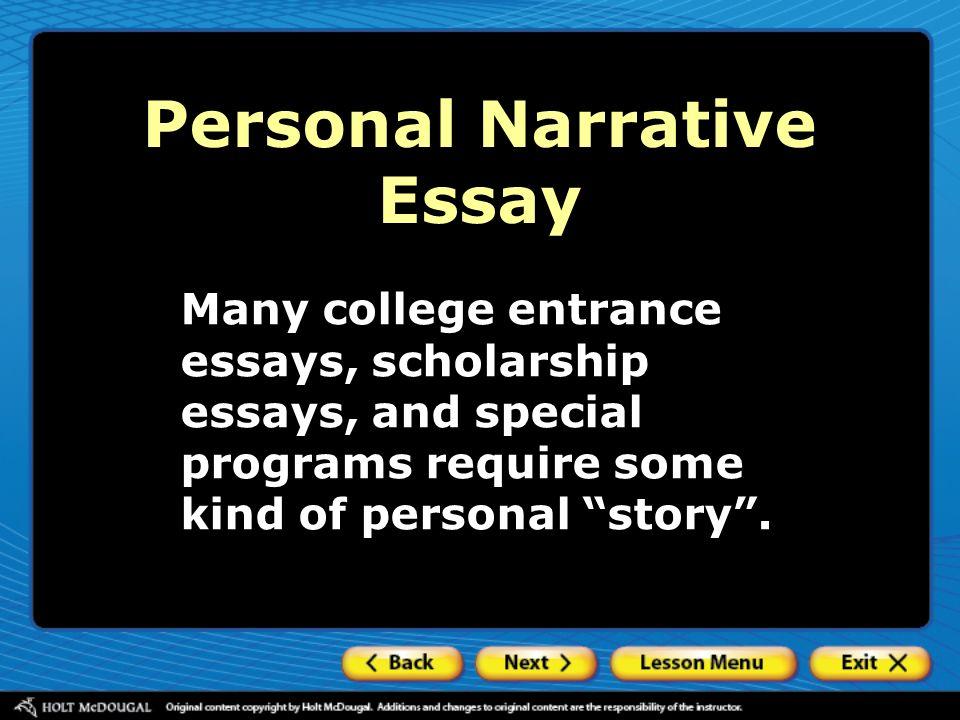 Kind of narrative essay