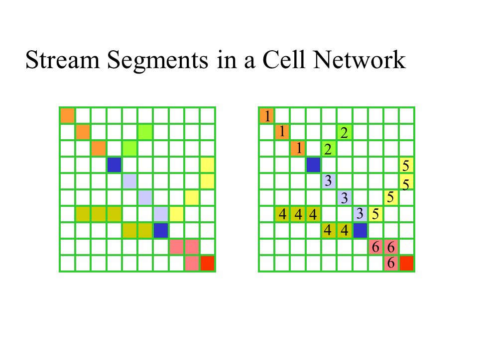 Stream Segments in a Cell Network