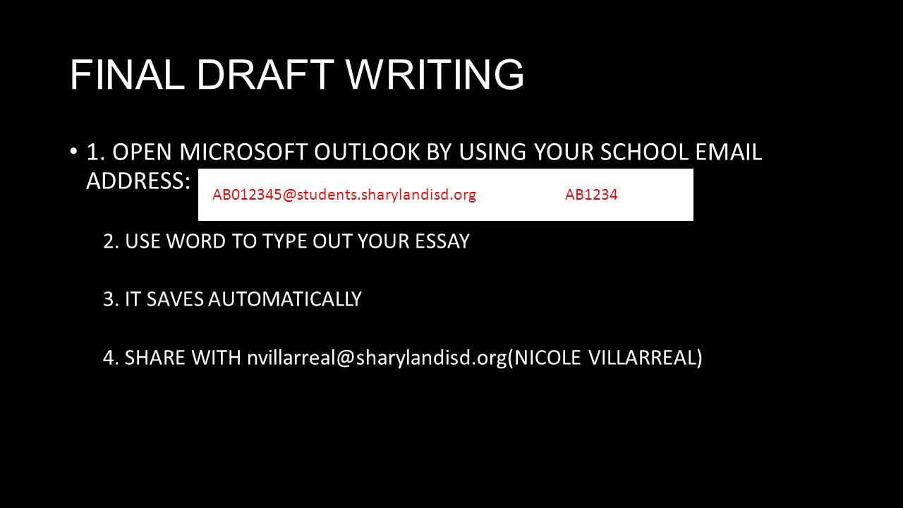 Type your essay online