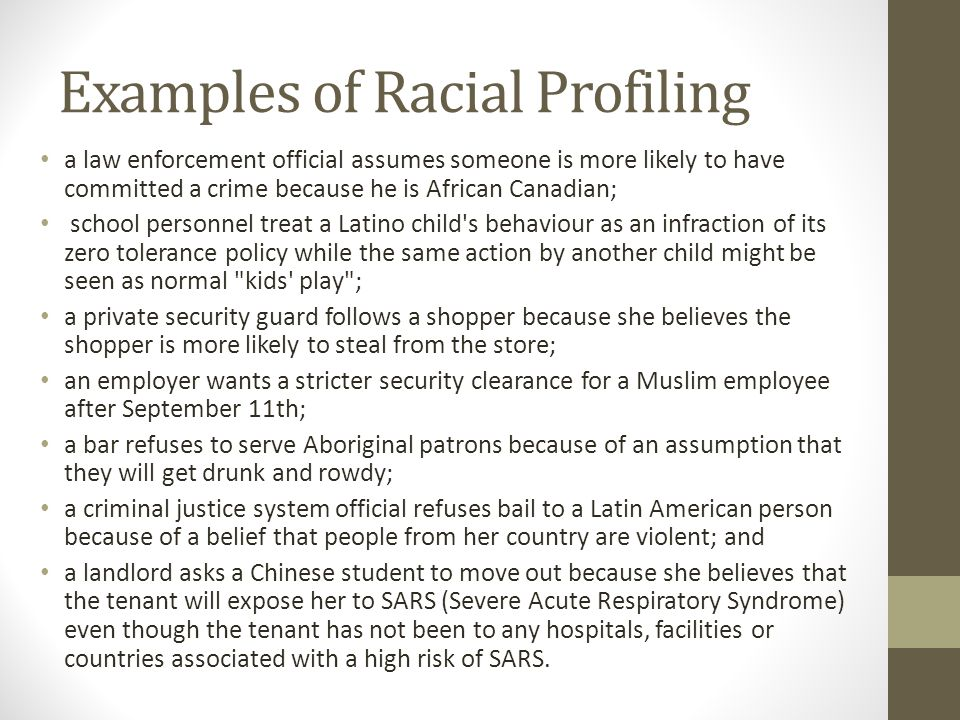 racial profiling what is racial profiling examples of racial  3 examples
