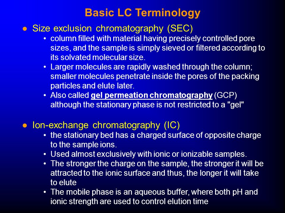 Liquid Chromatography 1 and Solid- Phase Extraction Lecture Date ...
