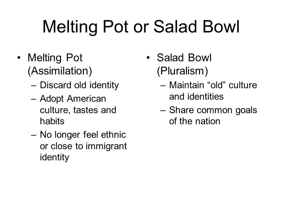 america melting pot or salad bowl essay