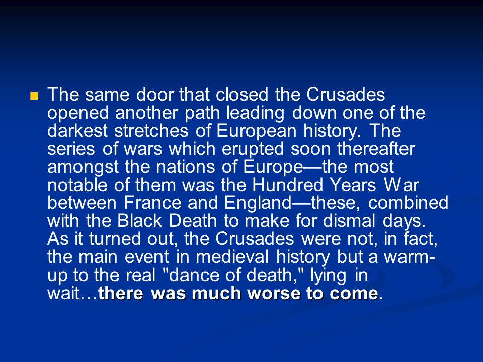 Legacy of the Crusades Crusaders learned of Muslim innovations in architecture, science and medicine.