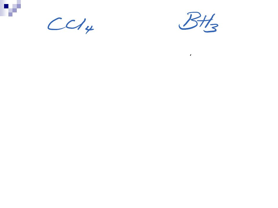Methane - CH 4 All the bonds are identical and the molecule has a TETRAHEDRAL SHAPE