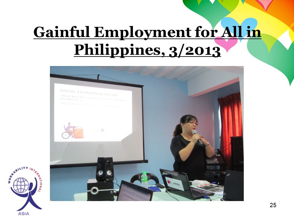 25 Gainful Employment for All in Philippines, 3/2013