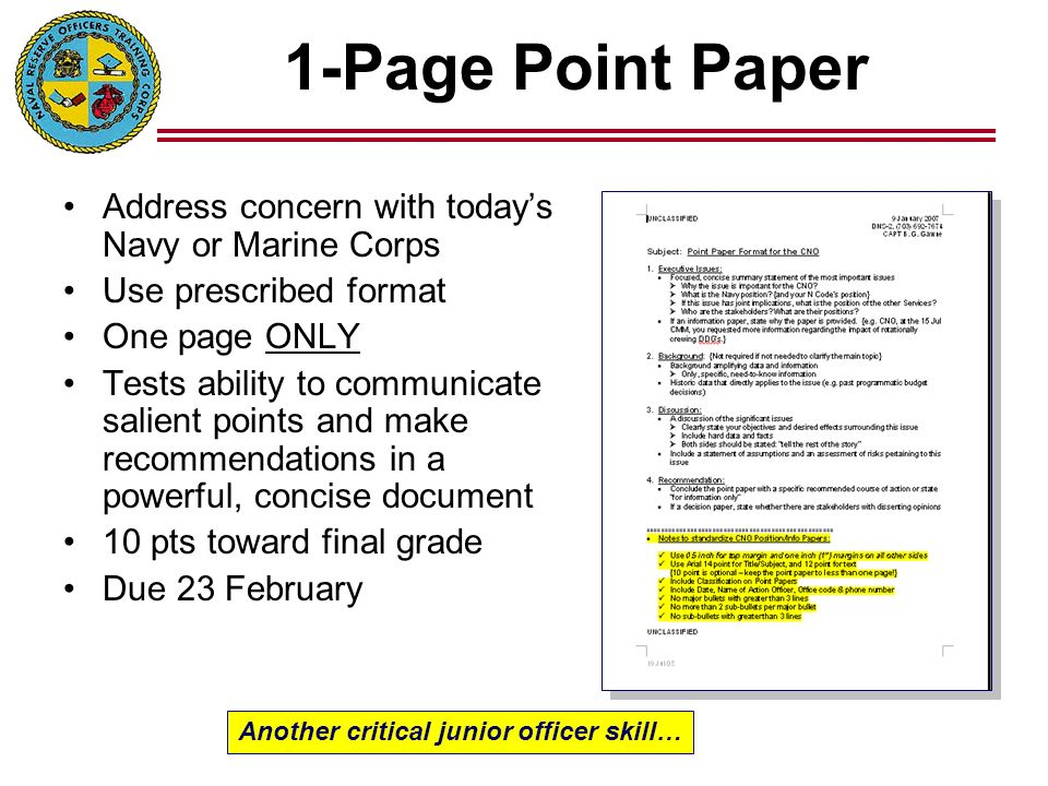 point paper template