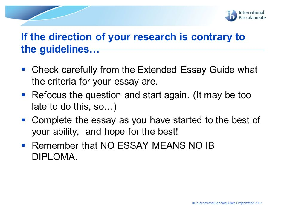extended essay guidelines