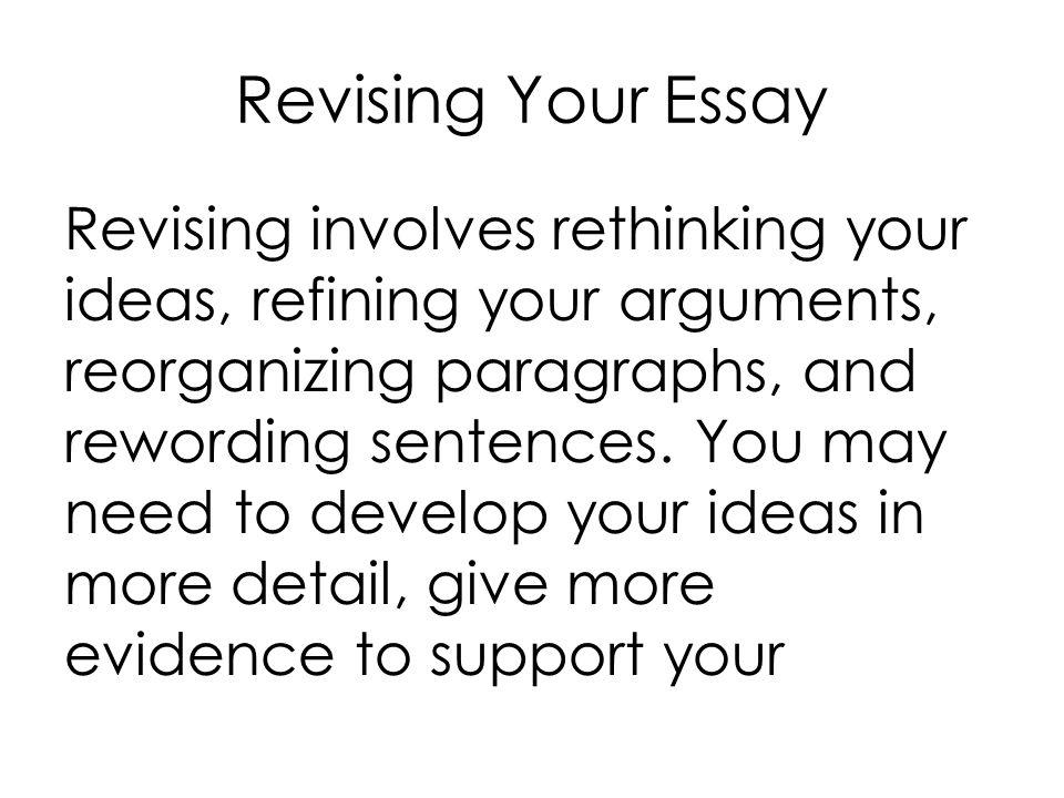 Rewording paragraphs