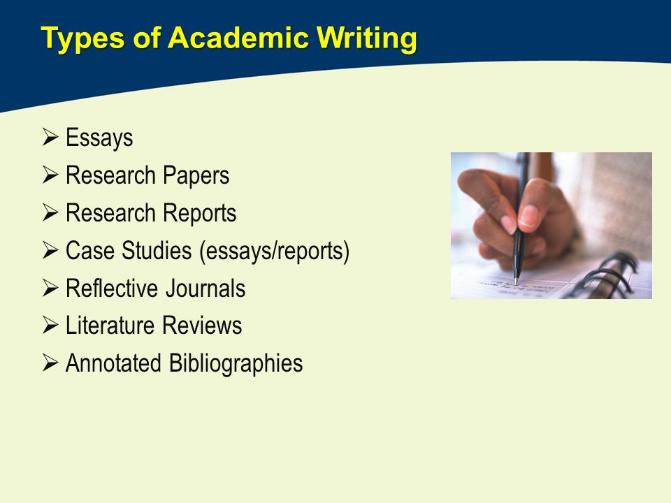 writing of essay