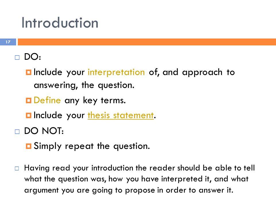 Defining key terms dissertation