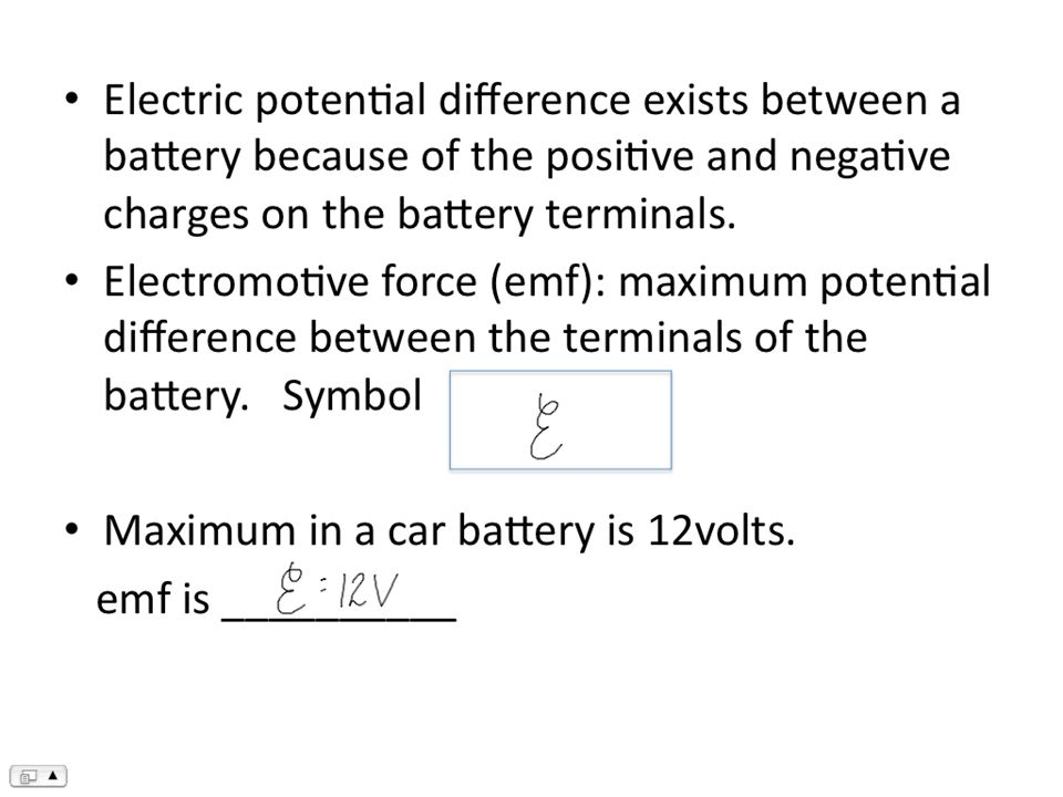 Electric Circuits Chapter Electromotive Force And Current Electric