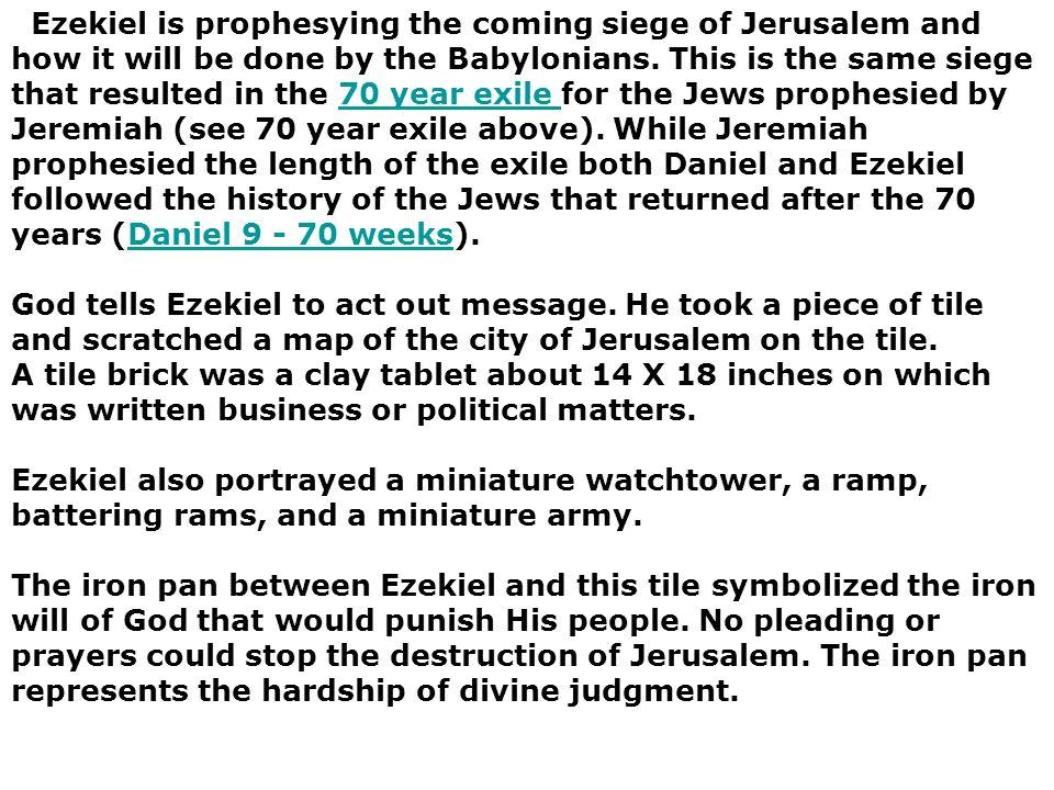 Ezekiel 4  God adds 2520 years to Jeremiahs 70 years Jews