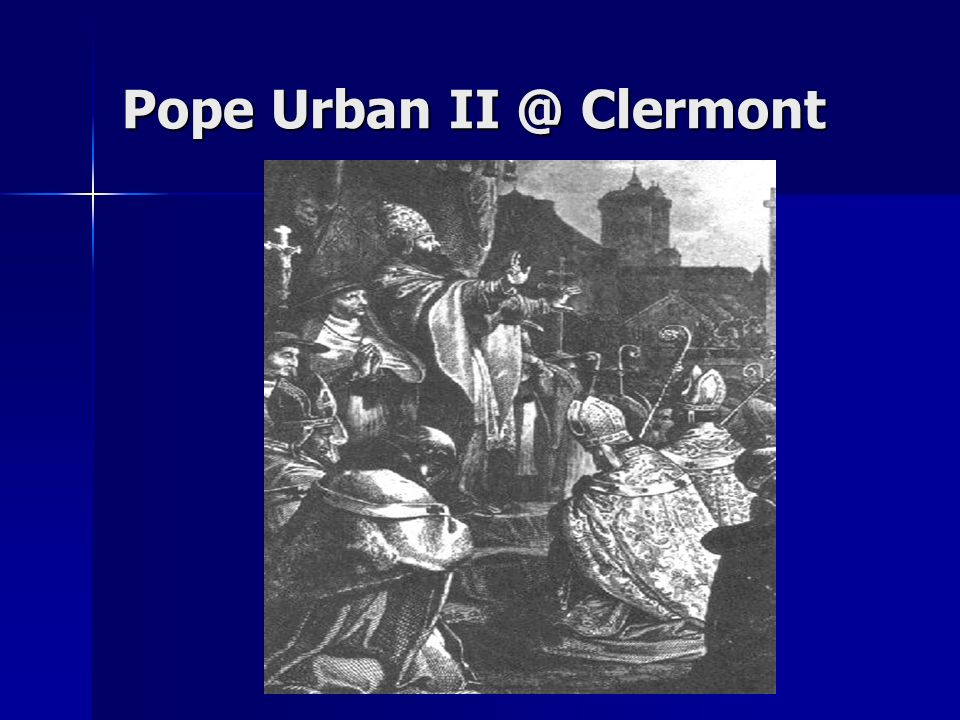 Pope Urban Clermont
