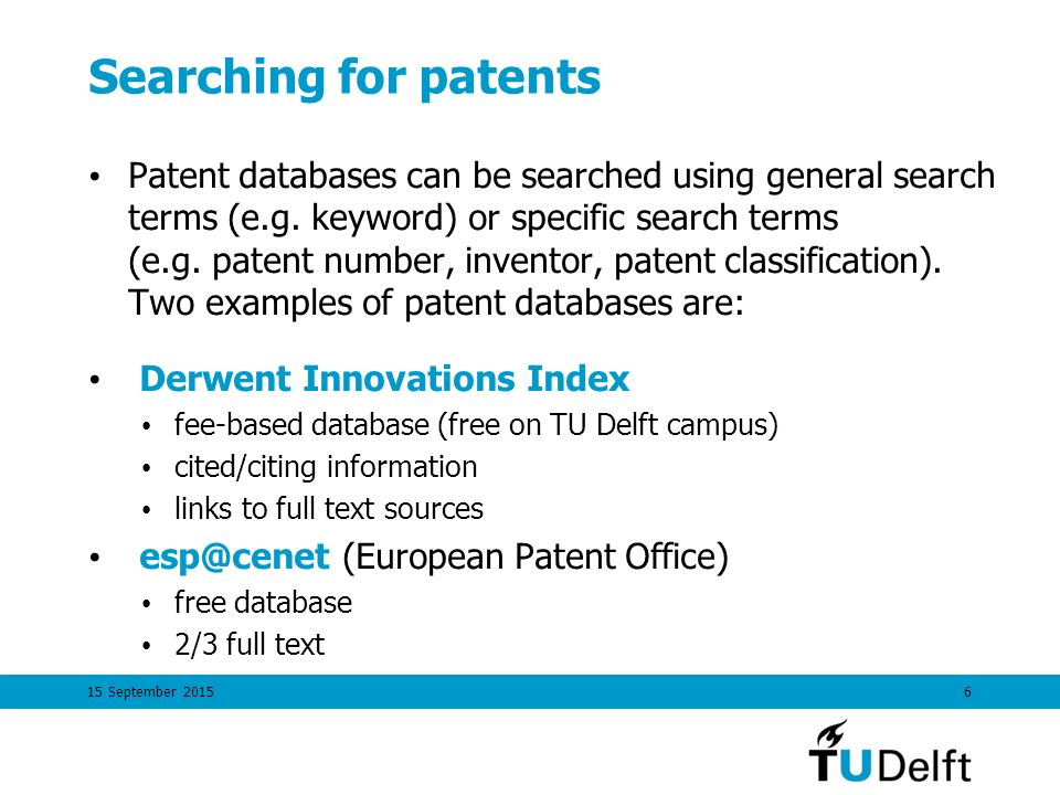 15 September Finding And Using Patent Information Ppt Download