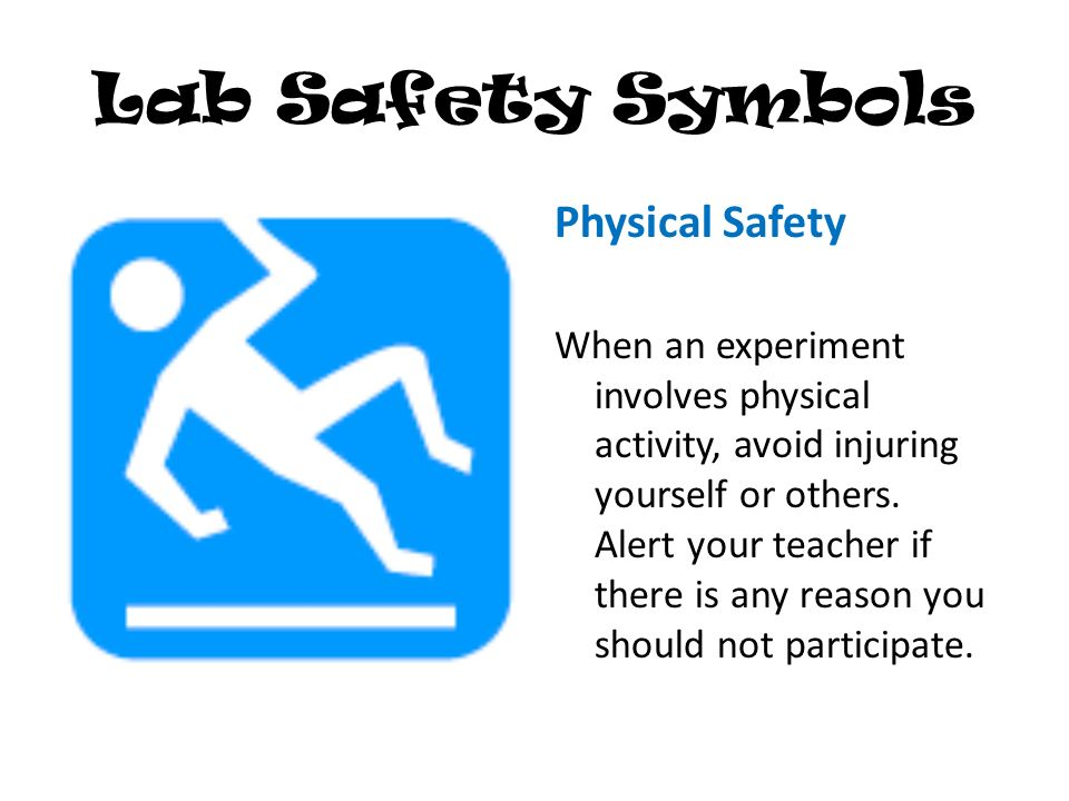 Physical Science Lab Safety Symbols Data Set