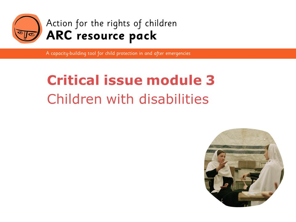 1 Critical issue module 3 Children with disabilities