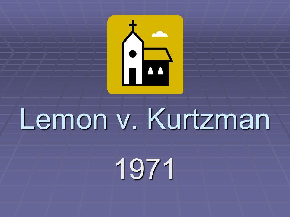lemon v kurtzman essay