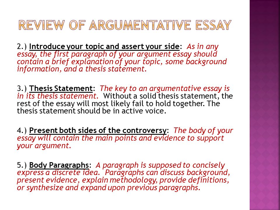 argument essay thesis   argumentative essay topics with samples argument essay thesis essay for science also essay reflection paper examples essay about healthy lifestyle