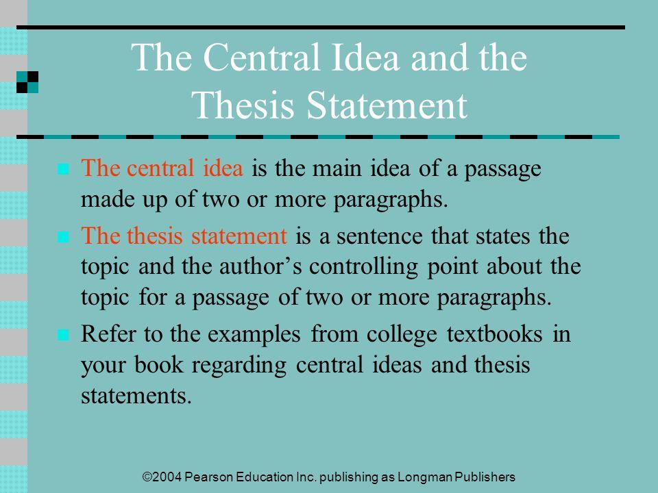 thesis statement regarding education