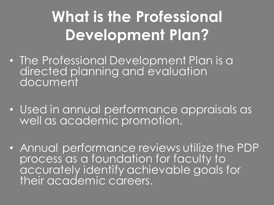Professional Development Plan Workshop. What Is The Professional