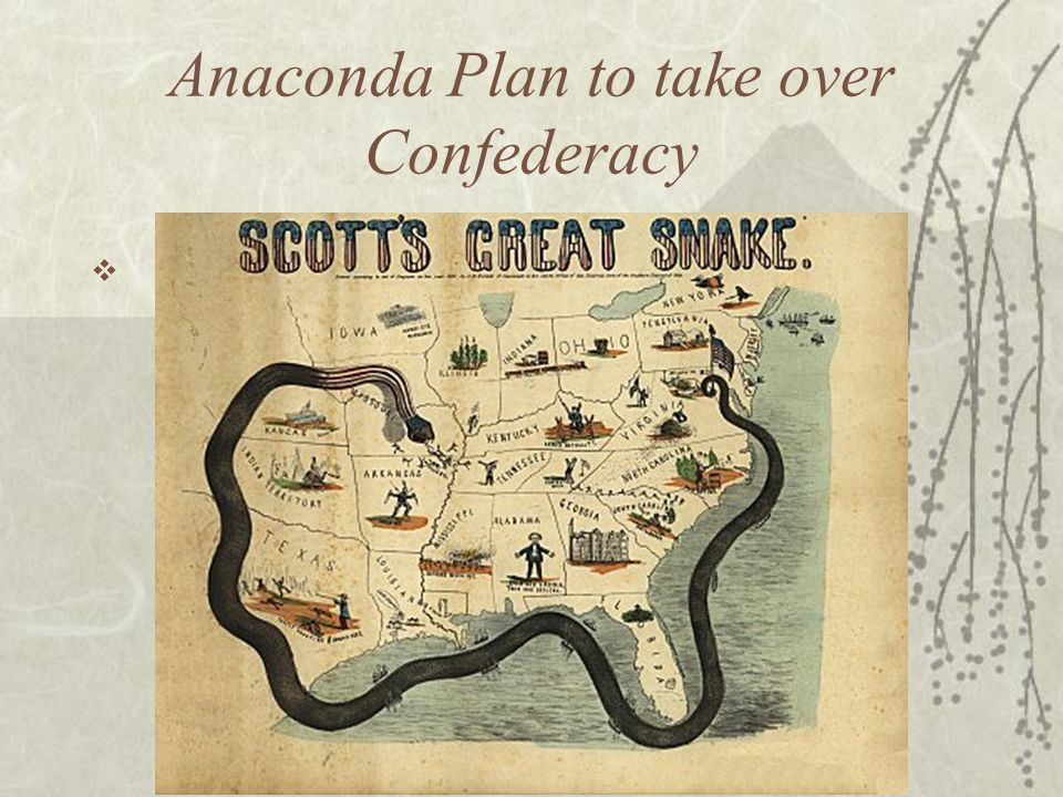 Anaconda Plan to take over Confederacy 