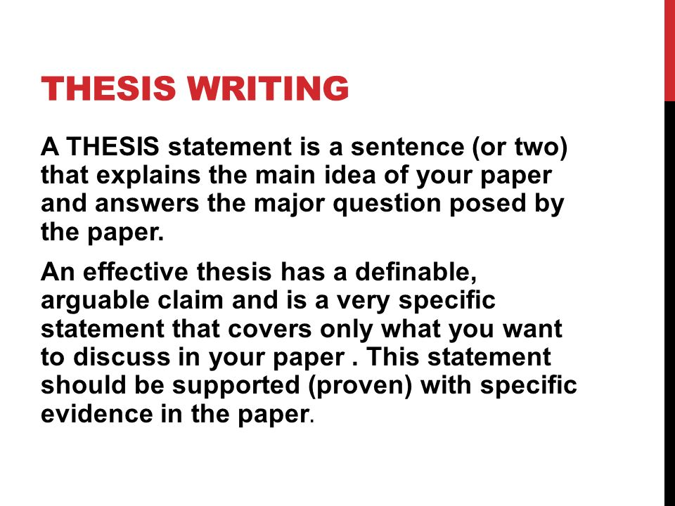 I need major HELP on a working thesis. Anyone?