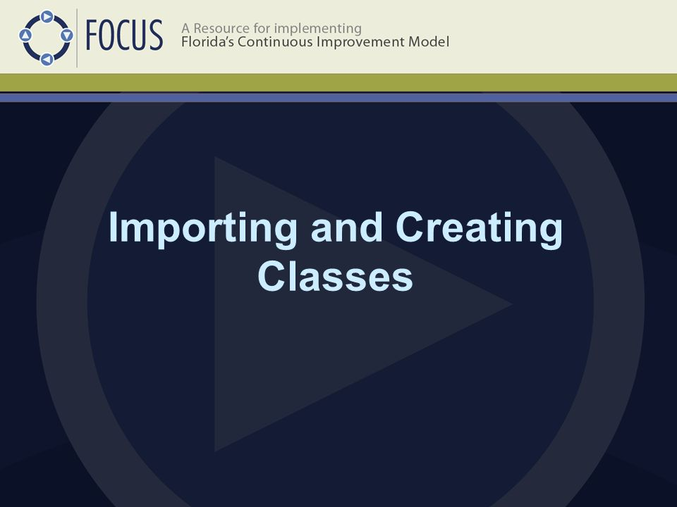 Importing and Creating Classes
