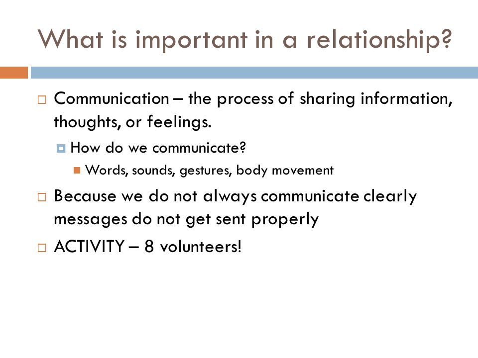 how to communicate in a relationship essay Lack of communication in a relationship lack of communication is the root cause for most relationships problems communication is the key foundation in a relationship.