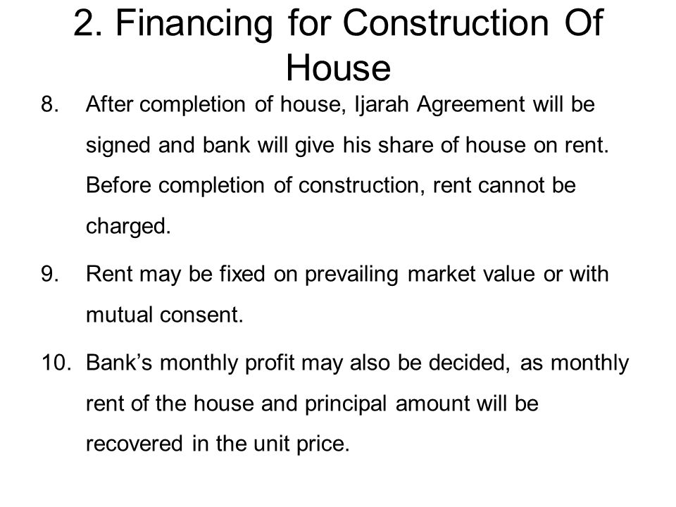Islamic modes of financing diminishing musharakah ppt download 27 2 financing for construction of house platinumwayz