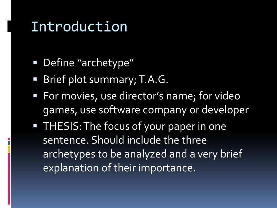 archetypes research paper