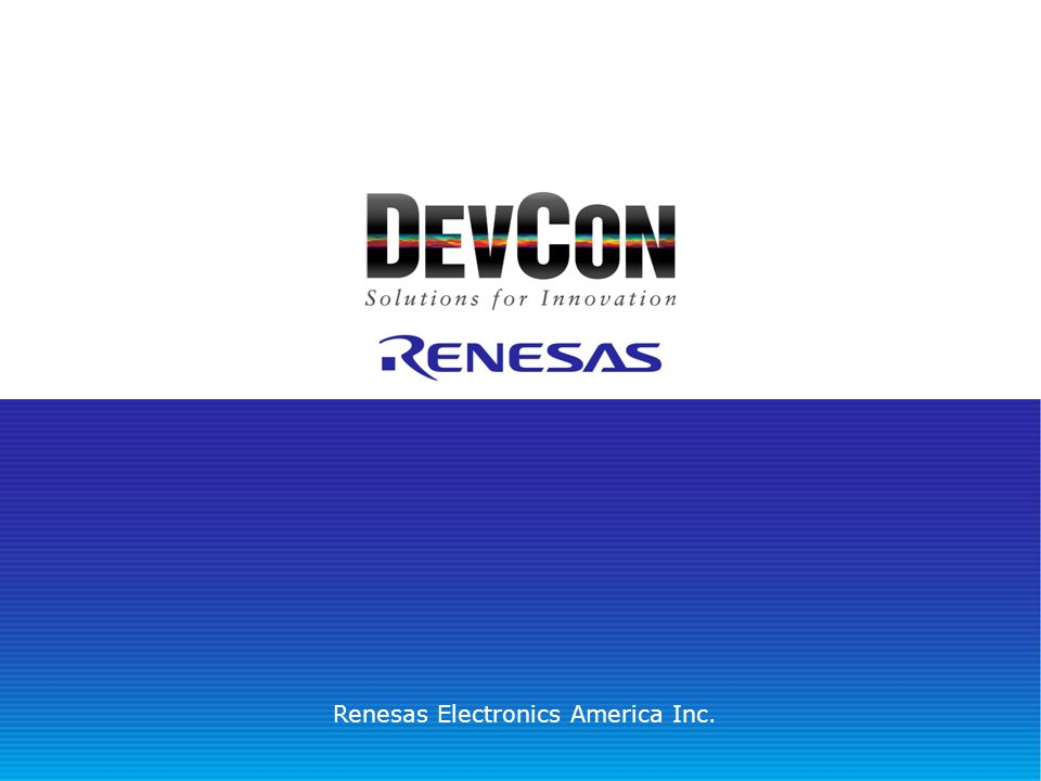 Renesas Electronics America Inc.