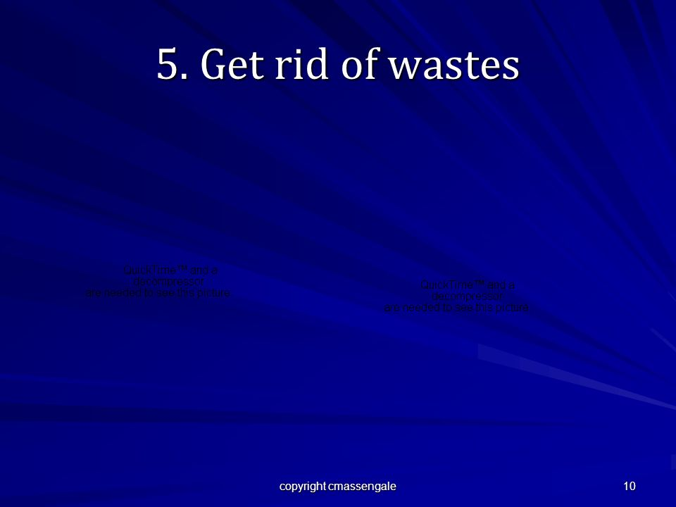 10 5. Get rid of wastes copyright cmassengale