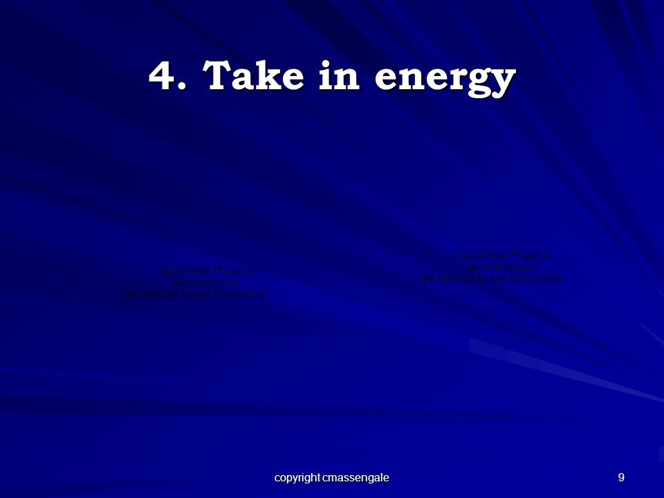 9 4. Take in energy copyright cmassengale