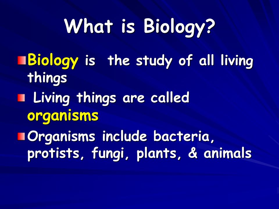 What is Biology.