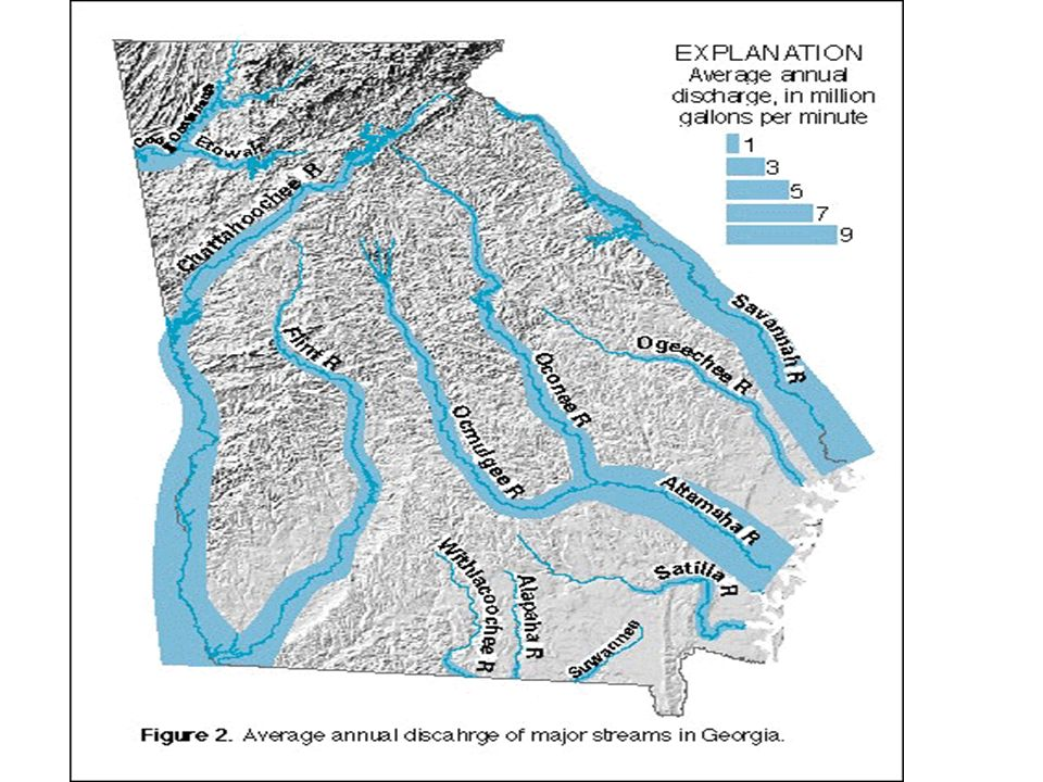 Chapter The Land Of Georgia Ppt Video Online Download - Georgia map rivers lakes
