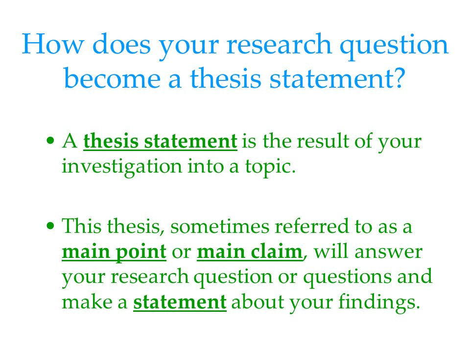 research paper thesis statement question Thesis statement for argumentative essay you argumentative thesis statement should not be ambiguous questions to check whether your research papers thesis.