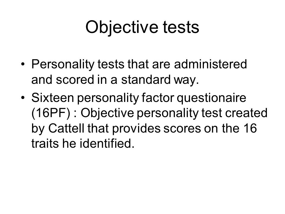 appropriateness of standard personality tests By audrey hughes this dissertation 26 why use tests testing access's the appropriateness of an individuals personality profile to a given.