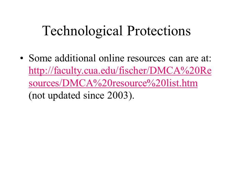 COPYRIGHT LAW 2004 Professor Fischer CLASS of April : TECHNOLOGICAL ...
