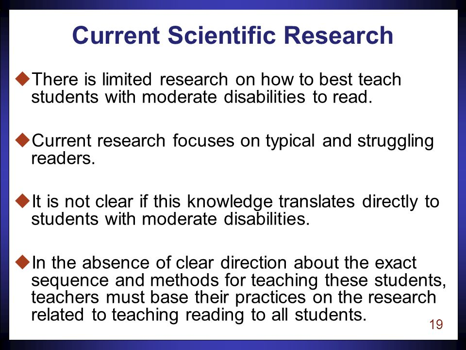 18 Autism and Literacy Learning Needs uGrowth in reading is closely tied to levels of oral language.