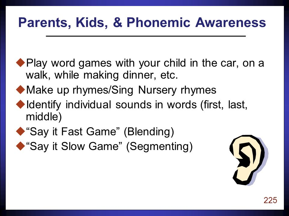 224 uSchedule 15 minutes of special time everyday to listen to your child read.