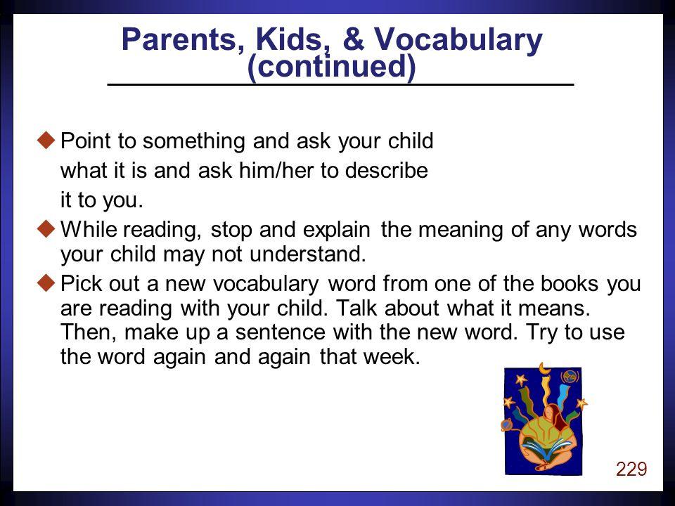 228 uTalk to your children often.