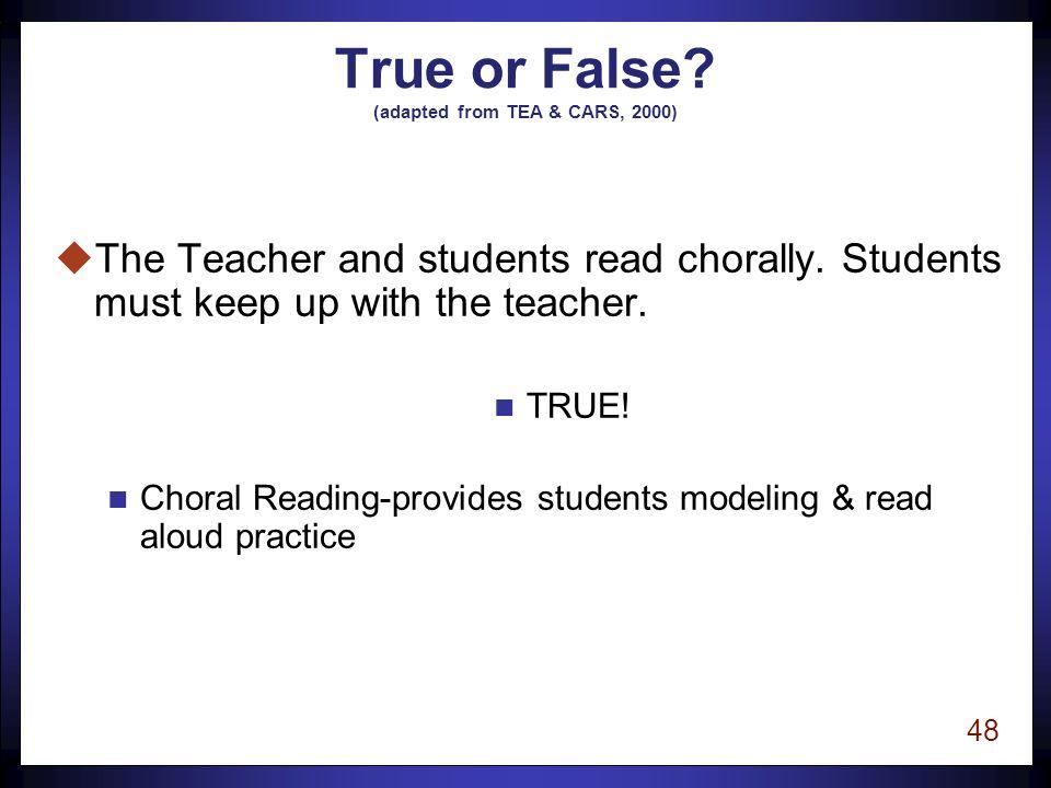47 True or False.